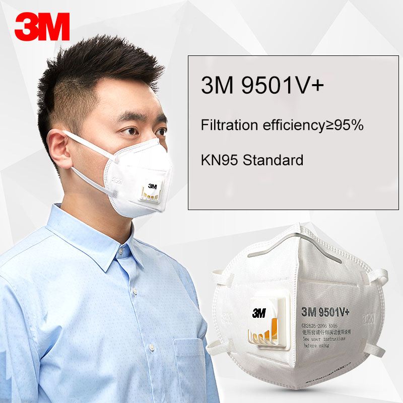 25pcs/Lot 3M 9501V+ & 9502V+ Mask Anti Dust Masks KN95 Masks Anti-haze Protective Masks Anti-particles Filter Material ZXH30701