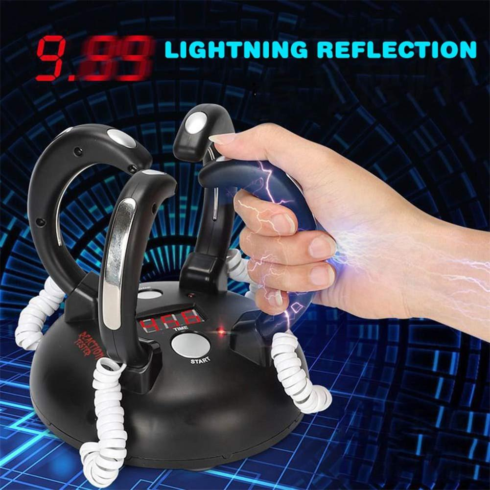 Mini Electric Shock Lie Detector Toy For 4 Hands Reaction Bar Party Game Joke Funny Electric Toys Children Playing Game Toys