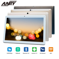 ANRY 4G LTE Phone Call 10.1 inch Tablet Android touch PC Tab Google Play Wifi GPS Octa Core IPS 1280x800 4G RAM 64G ROM for kids
