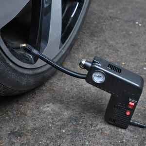 Image 5 - Siyah lastik şişirme pompası DC 12 V Çok fonksiyonlu Taşınabilir Elektrikli Otomatik Pompası Arabalar Için Bisiklet Pompaları Işaretçi Ekran