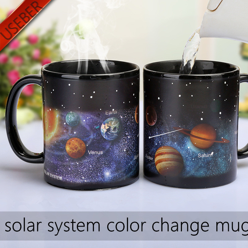 Solar System Color Changing Mug Galaxy Color Change Mugs Heat Sensitive Sublimation Coffee Tea Colour change Cups Magic Mugs 1