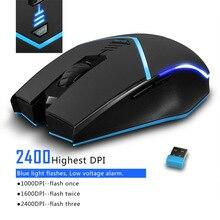Беспроводная мышь 2,4G 2400DPI, беспроводная оптическая мышь, универсальная компьютерная мышь левой и правой рукой, Беспроводная игровая мышь