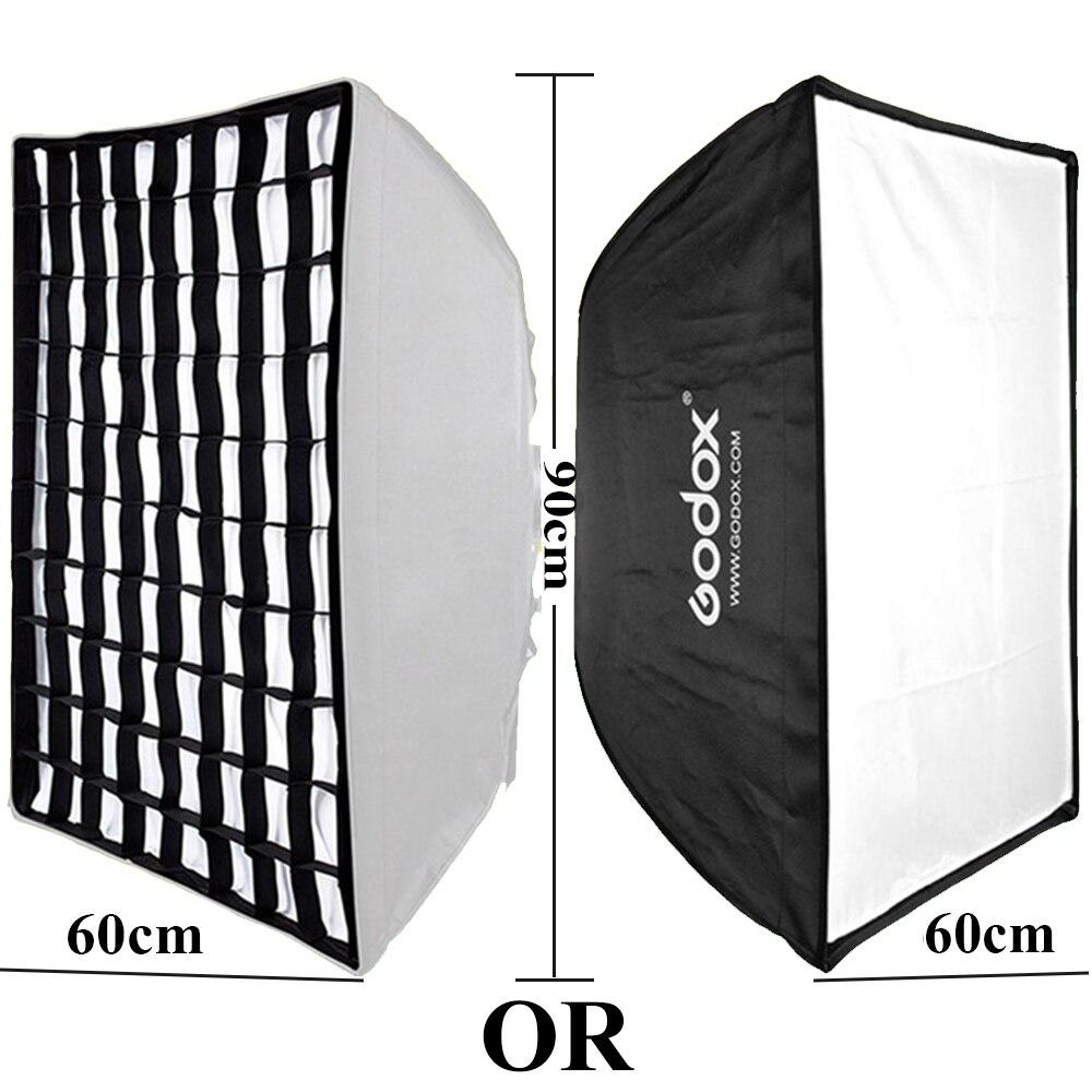 Caja de luz para softbox 60 cm x 90 cm, luz para Flash de Estudio fotogr/áfico Godox