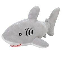 Аквариум сувенир супер мягкий 30 см мягкие морские животные игрушки акула и Дельфин плюшевые куклы