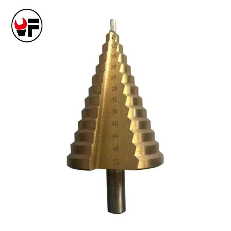 4-52mm Step Cone Drill Bits For Metal Hex Titanium Cutters for Metal Drill Power Cones Wood Tools brocas para metal HSS DZ103