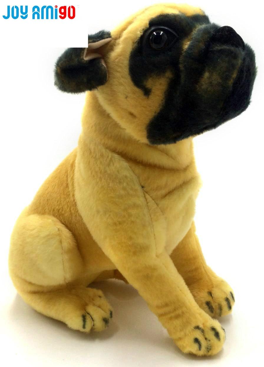plush stuffed pug dog realistic animal toy rottweilers like small large dog stuffed animal. Black Bedroom Furniture Sets. Home Design Ideas