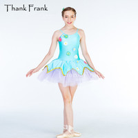 Tutu Ballet Dance Dress For Girls Colorful Flowers Costume For Dancing Dresses For Women Camisole C408