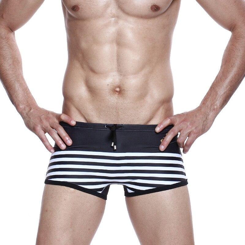 f22e08e2c0 SEOBEAN Swim Shorts Swimming Trunks Men Sailor Sexy Swimwear Low Waist  Close Fitting Beach Surfing Strap Swim Brief High Quality-in Men's Briefs  from Sports ...