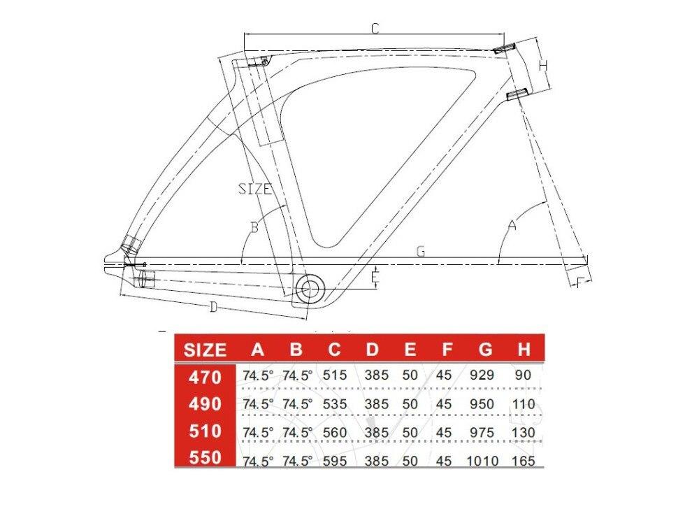 Vollcarbon Track Rahmen Bike/Fahrradrahmen T800 3 Karat/UD Glänzend ...