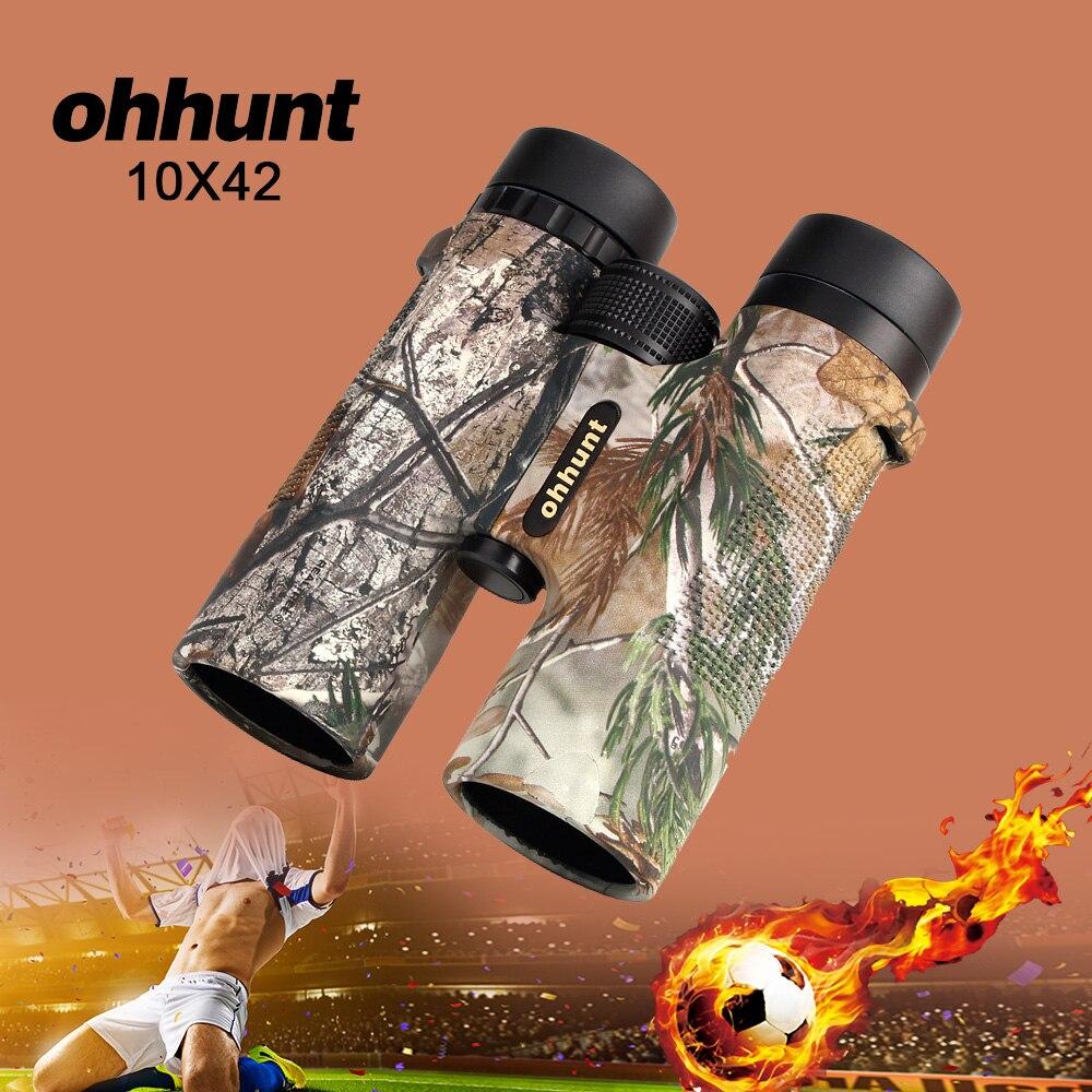 Ohhunt militaire 10X42 portée de chasse télescope jumelles Camouflage haute puissance armée HD grand Angle jumelles pour le Football