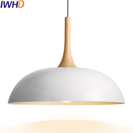IWHD Modern Led Pendant Lamp white black Lid Hanglamp Home Lighting Fixtures Dining Room Bar Iron Suspension Luminaire Lamparas led ceiling pendant lamp black white red color indoor home decoration modern led light lighting luminaire