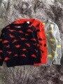Динозавров patterm Мальчики Моды Свитер Пуловеры 2016 Весна Дети С Длинными Рукавами Шерстяной Трикотаж Ребенок Куртка Свитер Детская Одежда