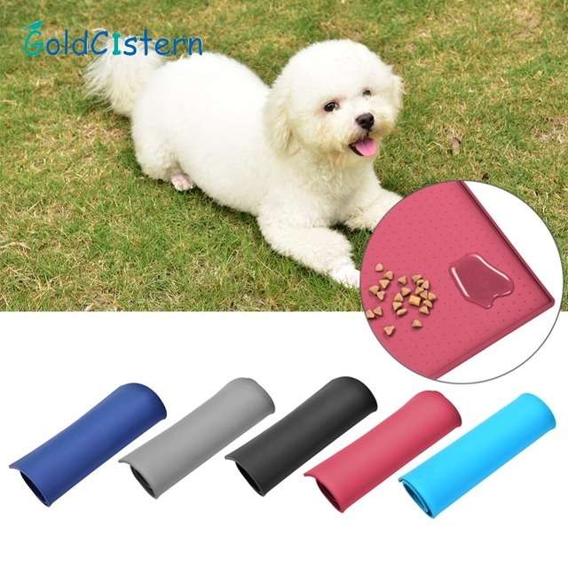 5 Colors Wipe Clean Pet Supplies Pet Dog Puppy Cat Feeding Mat Pad Cute Silicone Bed