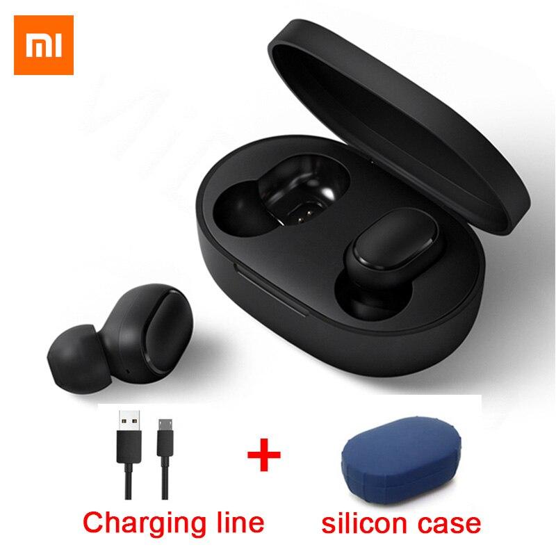Xiaomi Original Redmi Airdots TWS Auricular Bluetooth Bajo Estéreo BT 5.0 Audífonos con Micrófono Auriculares Manos Libres Earbuds AI Control