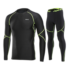 Warm UP Fit Compression Tracksuit Fitness Tight Running Sets T-shirt Legging Men's Sportswear Workout GYM Sport Suit
