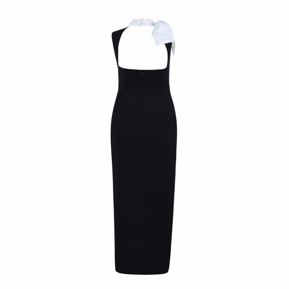 Noir Longues Party Qualité V Fille Ouvert Col Sexy Manches Haute Arc De Femmes Vêtements Mode Longue Robe Sans 2019 Up 0AaE1q