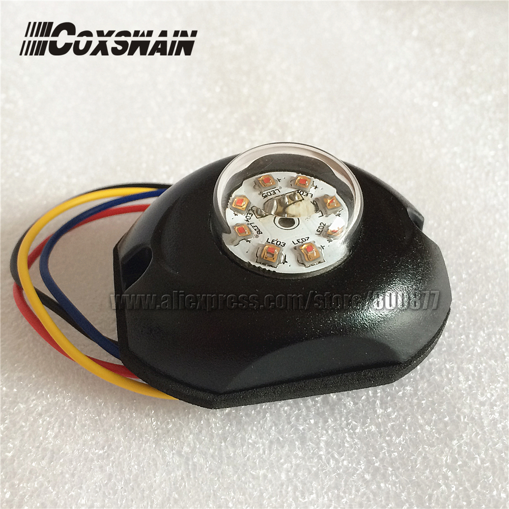 LED de COLOR DUAL G8 Lámpara de alarma oculta, LED de 8 * 3 W, 35 patrones de flash, luz interior, advertencia de faro estroboscópico lateral del carro del automóvil