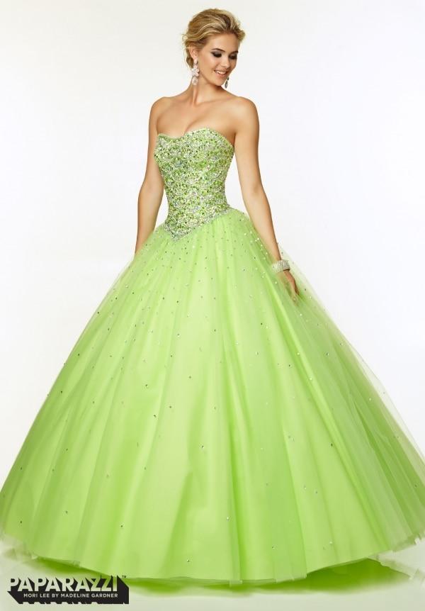 Lime green dress prom