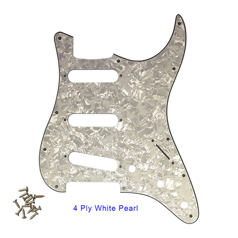 Pleroo 11 Screw Hole Guitar Pickguard for USA Mexico Fender Stratocaster Standard SSS St Scratch Plate with screws Multi color in Guitar Parts Accessories from Sports Entertainment