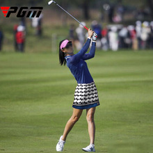 PGM Brand Womens Golf Skirt Girl Leisure Sport Tennis summer Plaid Skirts Slim Comfort Breathable with Lined Underpants M L XL