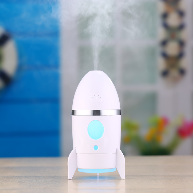 USB Rocket Humidifier LED Night Lights Ultrasonic Car Humidifiers Mist Maker Mini Household Air Purifier Essentail Oil Diffuser 5pcs lot 8 130mm replacement cotton swab for air ultrasonic humidifiers mist maker humidifier part replace filters can be cut