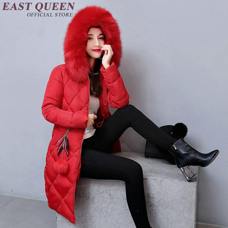 4 3 Col Yq Motif De 6 Coréenne 5 Long 7 Aa3099 8 2018 2 Xxl Manteau Fourrure 9 Treillis Femmes Mode 1 Style Rembourré Hiver HnPvUv