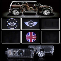 2pcs LED Welcome Projector Logo Ghost Shadow Lamp Car Door Light Logo Mini Clubman Suitable For