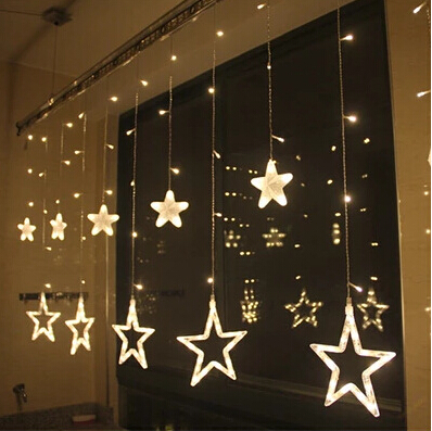 128 LED heart outdoor wall light curtain love flash butterfly ...