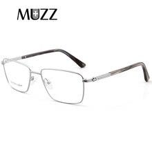 3f5b2d6c2ea Business Glasses Frame Men Big silver frame alloy Rim Eyeglasses for Myopia  Prescription Customized Lens Commercial