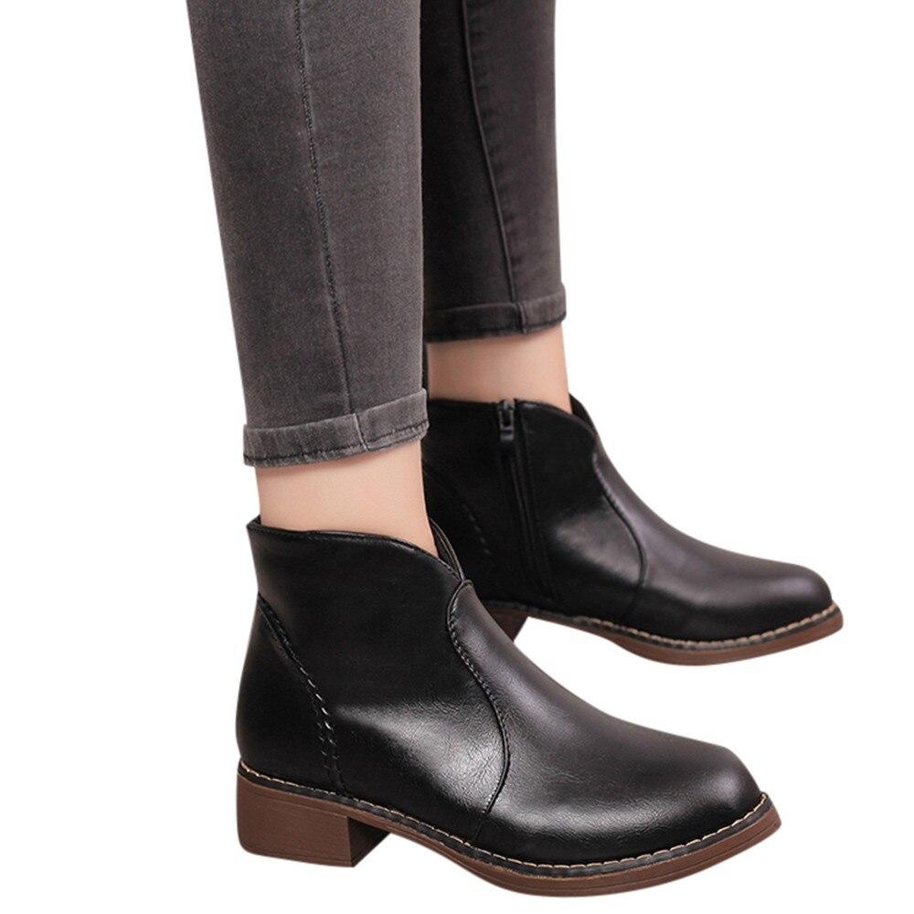 Ženske Modni dežni škornji Ženske Kratke usnje Srednje-6660
