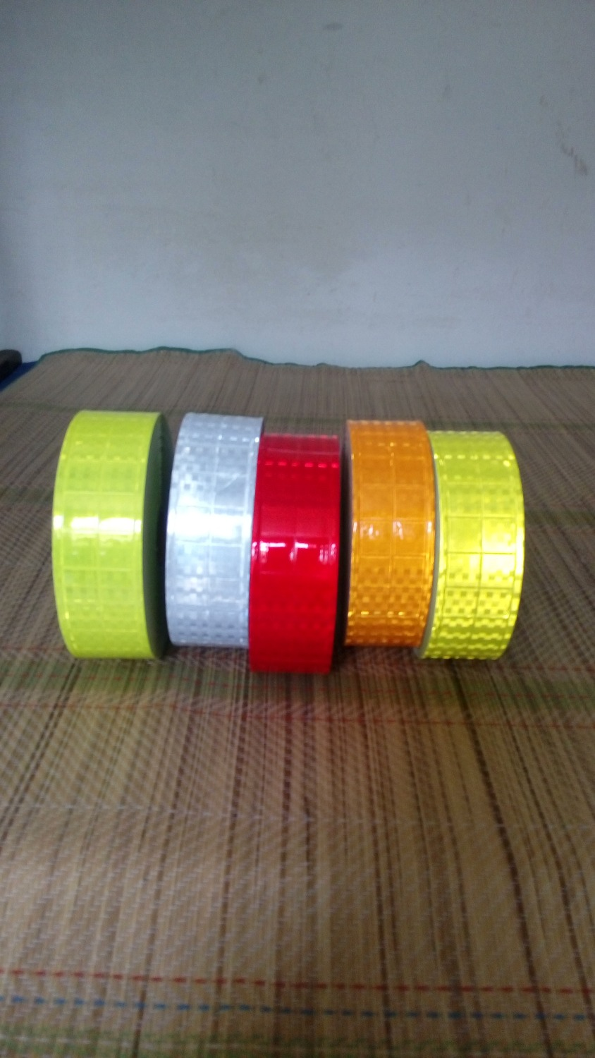 5cm*50m High visibility  pvc reflective tape small square shape flashing reflective at night safety clothing accessories 4 color