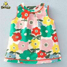 Girls Dresses 2018 New Brand Summer Princess Dress Kids Clothes Print Design for Baby Clothes1-6Y girls dresses