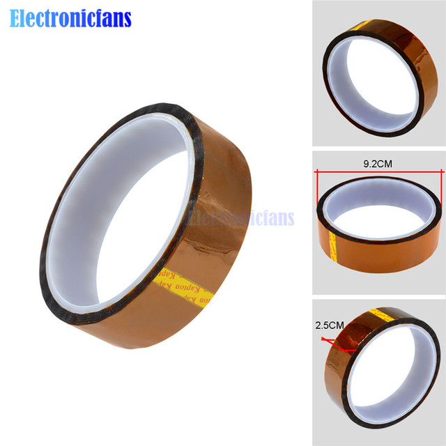 High quality 25mm x 30m Self-adhesive Tape High Temperature Heat Resistant Polyimide tape 260-300 Degree