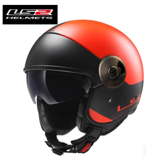 100% genuine LS2 OF 597 motorcycle helmet glass fiber retro-helmet safety helmet / 7 color / size: S M L XL XXL