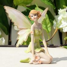 Beautiful Fairy Resin Ornaments Home Decor Miniature Flower Fairy Figurines