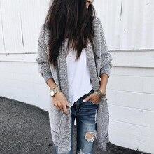 Long Gray Plaid Outerwear & Coats Women 2019 Autumn Coat Fem