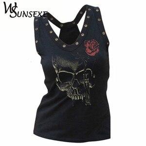 Женская футболка с объемным принтом, летняя футболка в стиле хип-хоп с треугольным вырезом и дырками в стиле панк