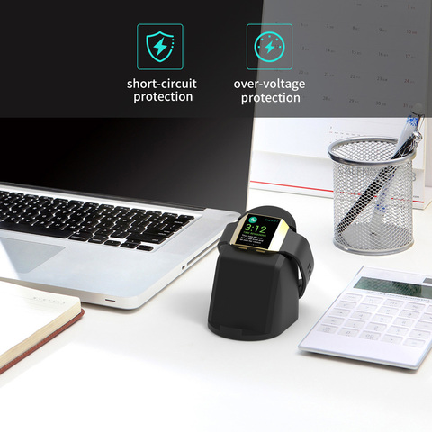 VOGEK Wireless Magnet Charger for Fitbit Lonic, USB Power Charging Dock Charger Station Cradle for Fitbit Watch & Phone Stand Karachi