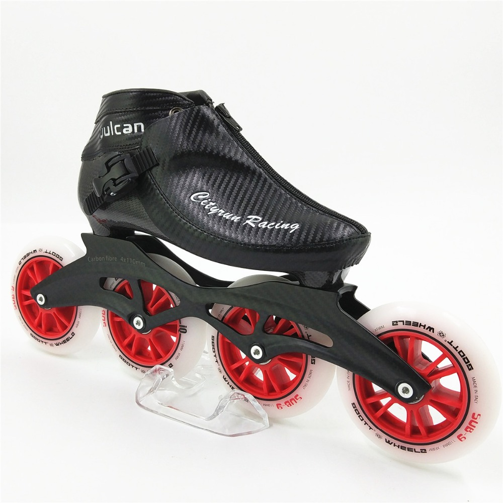 Professional Racing Skating shoes NEW Arrival Men/Women Inline Skates 4 100mm Wheels Adults/Kids Boot  Speed Skates carbon frame