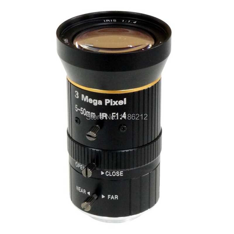 HD CCTV lens5 50mm IP Box Camera CCTV Lens , 1/2.7 Varifocal Manual Iris Lens 3MP CS mount Lens Security Camera Lens