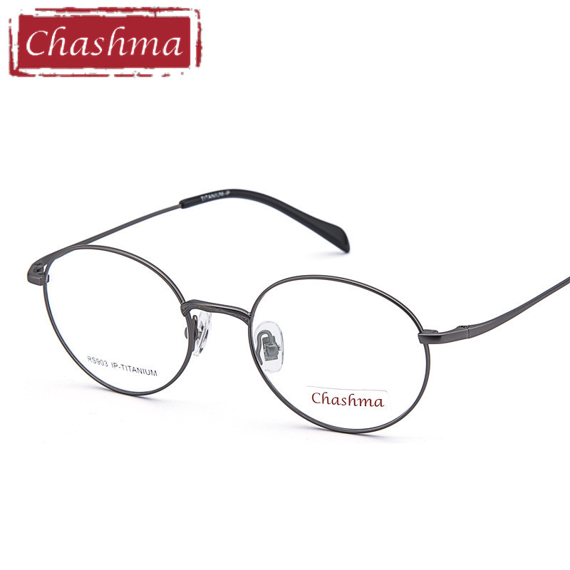 Chashma Titanium Round Eyeglasses Optical Vintage Spectacle Frames Retro Prescription Eyewear Light Fashion Student Glasses