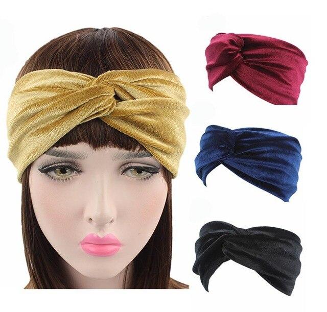 Luxury Velvet Twist Headband Women Earmuffs Earwarmers Noble Scrunchy Twist Hair  Band Turban Headbands Bandana Bandage 41f0c85dcbb