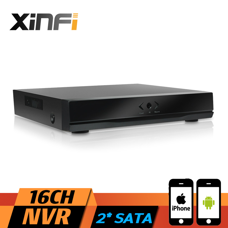 XINFI 16CH NVR Full HD 16 Channel Security Standalone CCTV NVR 1080P ONVIF 2.0 For IP Camera System 1080P Recorder with 2* SATA xinfi 8ch hd cctv system with 8ch hdmi 1080p nvr network video recorder 8pcs 1080p hd 2 0mp security ip camera system cctv kit