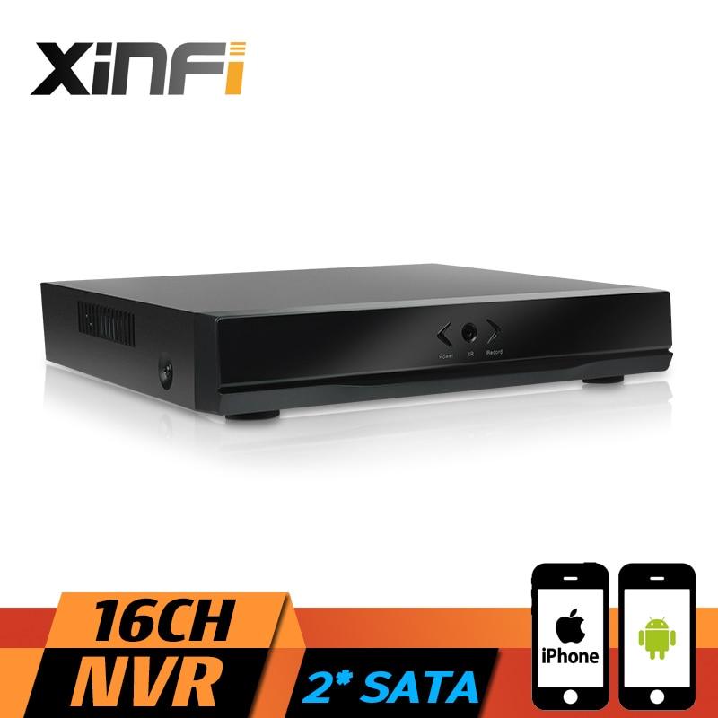 XINFI 16-канальный видеорегистратор полный HD 16-канальный автономный видеонаблюдения безопасности сетевой видеорегистратор с разрешением 1080p стандарта onvif 2.0 системы IP камеры 1080p рекордер с 2* SATA в