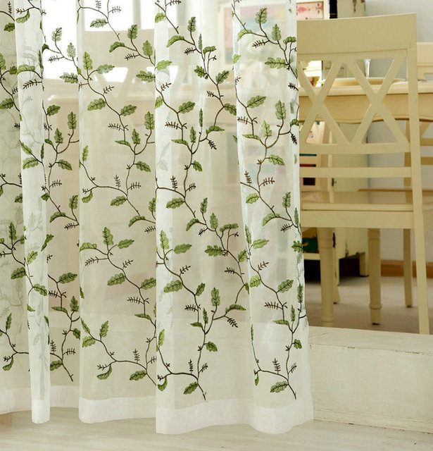 Sheer tulle tende della finestra per soggiorno cucina camera da ...