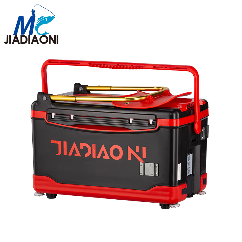 JIADIAONI 30L 5.5kg Plastic Multifunction Fishing Tackle Boxes Portable Fishing Box Seat.