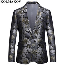 NEW Brand Floral Printed Blazers mens 2018 Suits Jackets slim Homme Top Designed men's Blazer Masculino Dress Large size M-6XL