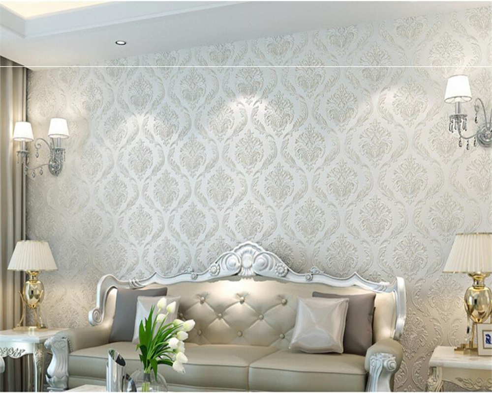 ФОТО Beibehang wallpaper for walls 3 d  luxury european-style embossed wallpaper 3d luxurious sitting room sofa TV setting wall paper