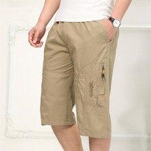 Sommer männer Beiläufige Kurze Hosen Pluse Größe Männliche Vater der Kurzen Hosen Europäischen und Amerikanischen Stil Lose Kurze Hosen männlichen A3727