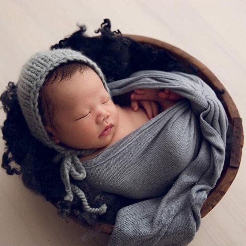 Newborn Baby Infant Photography Photo Props Wrap Soft Sleeping Swaddle Blanket